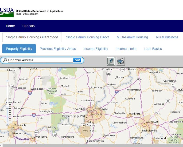 2019 kentucky usda income limits, 2019 kentucky usda property eligibility map, first time buyer kentucky usda, Kentucky Rural Housing and USDA Loans