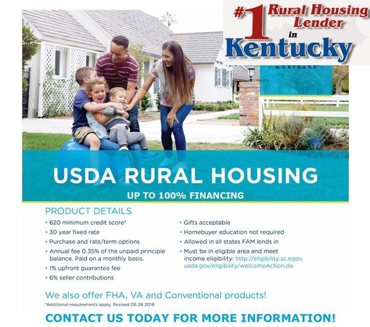 first time buyer kentucky usda, foreclosure, GUS approval, Kentucky Rural Housing and USDA Loans, Kentucky USDA Rural Development