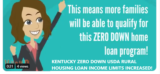 2019, income limits for all Kentucky Rural Housing USDA Rural Development Loans
